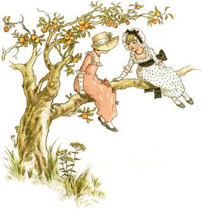 Sitting in an apple tree
